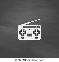 boombox computer symbol - boombox Simple vector button...