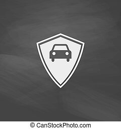 Car guard computer symbol - Car guard Simple vector button...