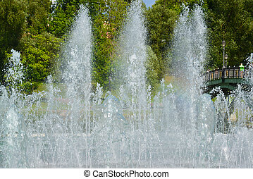 Fountain in Tsaritsyno park in Moscow, Russia - Musical...