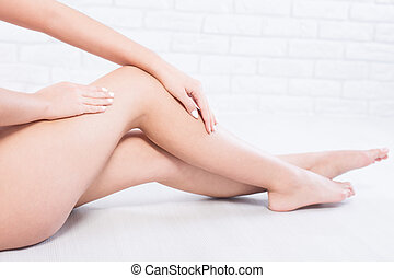 These legs are so sexy - Sexy woman's legs isolated on a...