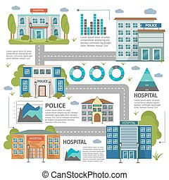 Flat Buildings Infographic