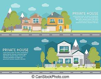 Urban Landscape Banner Set