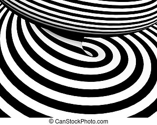 Abstract black and white tunnel