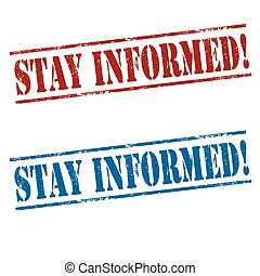 Stay Informed-stamps - Set of stamps with text Stay...
