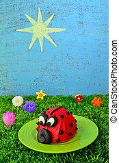 Red Ladybug Cupcake