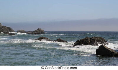 Beach ocean rocks California - Beautiful view Beach ocean...