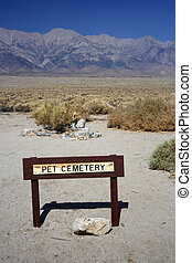 Pet Cemetery - Site of a pet cemetery in Manzanar National...