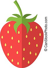Red strawberry isolated