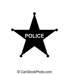 Police star icon. Vector