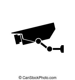 Surveillance  camera icon. Vector