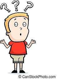 Boy Confused - A cartoon boy with a confused expression