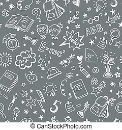 Seamless pattern on the school theme  a blackboard.