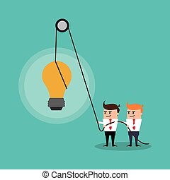 businesman cartoon project design - businessman bulb male...