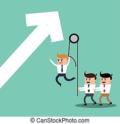 businesman cartoon project design - businessman arrow male...
