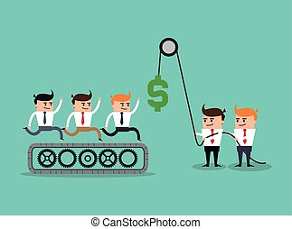 businesman cartoon project design - businessman gears money...