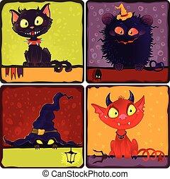 Halloween monsters.