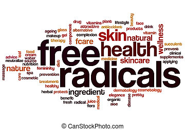 Free radicals word cloud concept