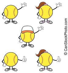 Softball Player Collection - Softball Faceless Player...