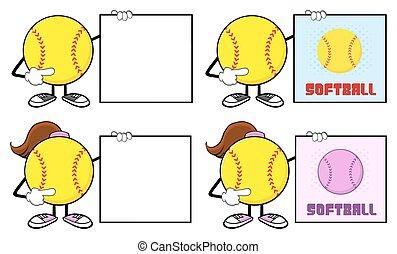Softball Player Collection- 5 - Softball Faceless Player...