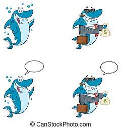 Blue Shark Character Collection - 9 - Blue Shark Cartoon...