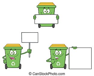 Recycle Bin Character Collection 2 - Recycle Bin Cartoon...