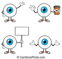 Blue Eyeball Guy Collection