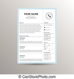 CV / Resume template for job applications