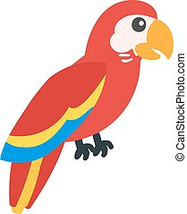 Cartoon parrot vector - Cartoon parrot wild animal bird....