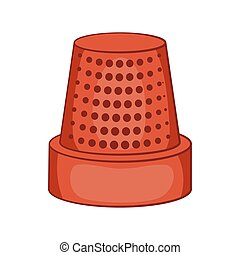 Thimble icon, cartoon style - Thimble icon in cartoon style...