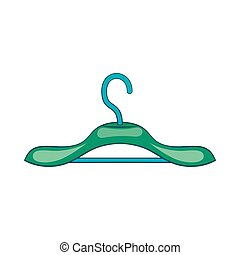 Clothing hanger icon, cartoon style