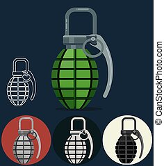 Hand grenade, army manual weapon