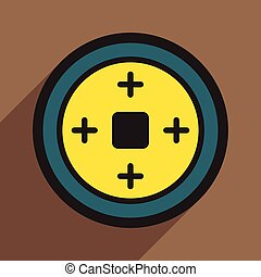 Chinese coins realistic icon on brown  backgrounds