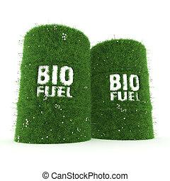 3D rendering barrels of biofuels - 3D rendering barrels...