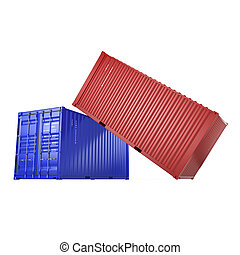 3D rendering containers - 3D rendering the ship a containers...