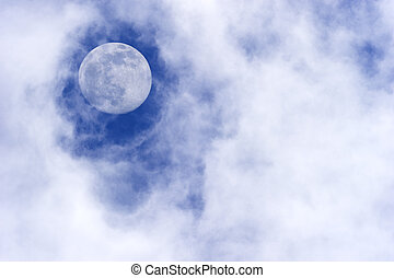 Moon Clouds - Moon clouds is a daytime scenic of wispy white...