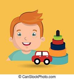 boy toy car cartoon