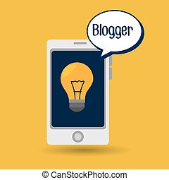 blogger web internet icon vector illustration eps10