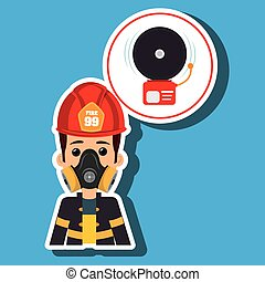 man fire alarm vector illustration graphic eps 10