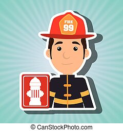 man fire hydrant icon vector illustration graphic