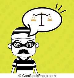 man criminal law icon