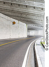 tunnel at mountain - Interior of an urban tunnel at mountain