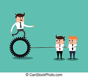 businesman cartoon project design - businessman gears male...
