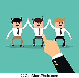 businesman cartoon project design - businessman hand male...