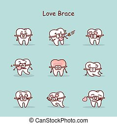 cartoon tooth wear brace - Love cartoon tooth wear brace...