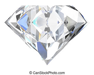 Diamond on white background