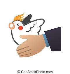 white dove symbol design - white dove hand bird peace animal...