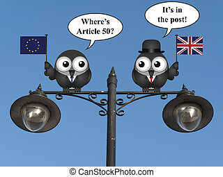 United Kingdom EU Article 50 - Comical European Union asking...