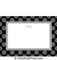 Vector Black Daisy Frame