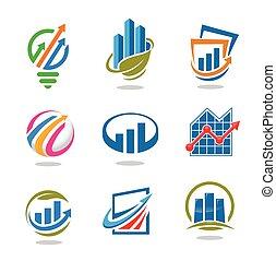 best marketing logo set - best business success marketing...