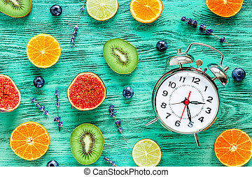 alarm clock - time to wake up with fruits
